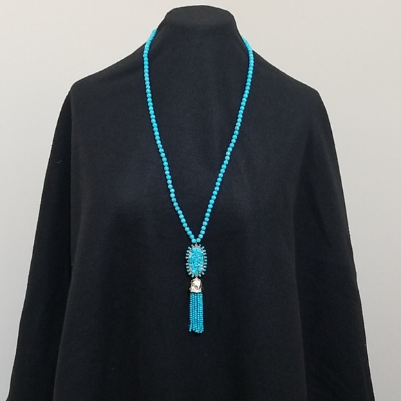 Kendra Scott Rare Turquoise Beaded Tassel Necklace